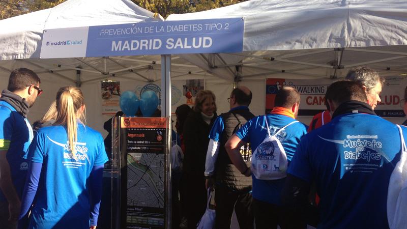 stand de Madrid Salud