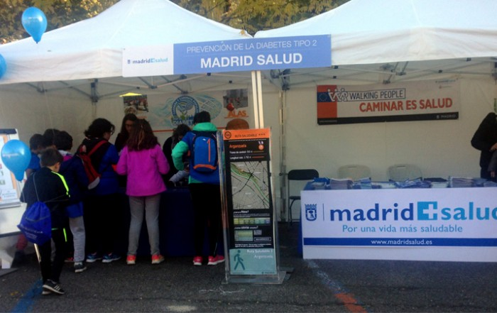 Stand de Madrid Salud en la Carrera por la diabetes