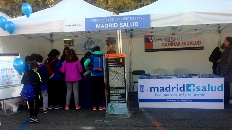 Stand de Madrid Salud en la Carrera por la diabetes