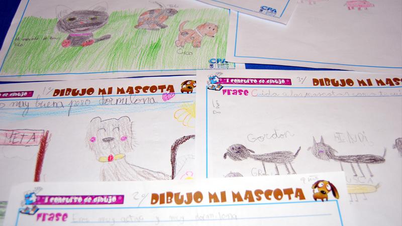 Varios dibujos del concurso
